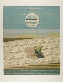 Lithograph Ernst - Mer et soleil