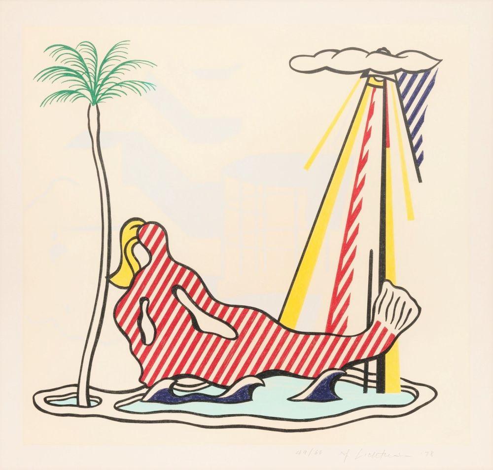 Lithograph Lichtenstein - Mermaid