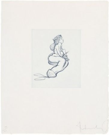 Etching Oldenburg - Mermaid