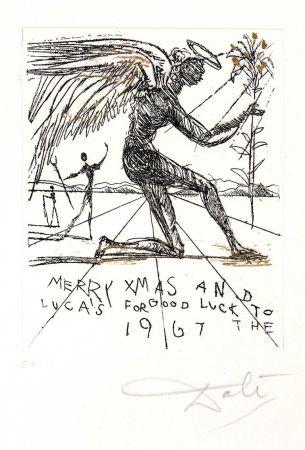 Lithograph Dali - Merry Christmas