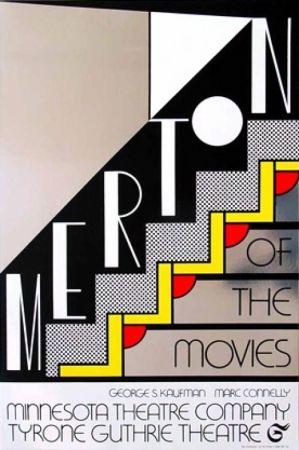 Screenprint Lichtenstein - Merton of the movie signed