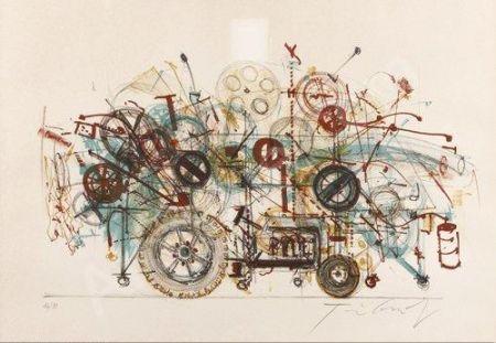Lithograph Tinguely - Meta-machine