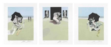 Etching And Aquatint Bacon - Metropolitan Triptych