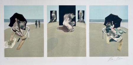 Aquatint Bacon - Metropolitan triptych