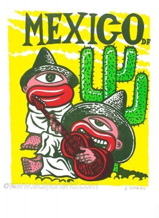 Lithograph Di Rosa - Mexico