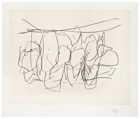 Lithograph Motherwell - Mexico City personages no.2