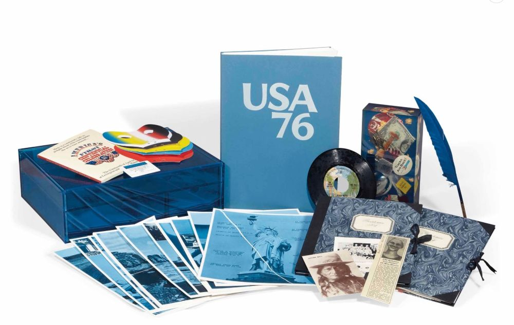 Multiple Monory - Michel Butor - USA 76. Bicentenaire Kit - Jacques Monory
