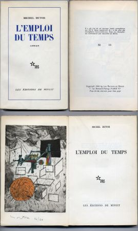 Illustrated Book Matta - Michel Butor. L'EMPLOI DU TEMPS (1 des 40 avec l'eau-forte rehaussée de Matta) 1956.