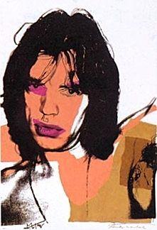 Lithograph Warhol - Mick Jagger 11.141