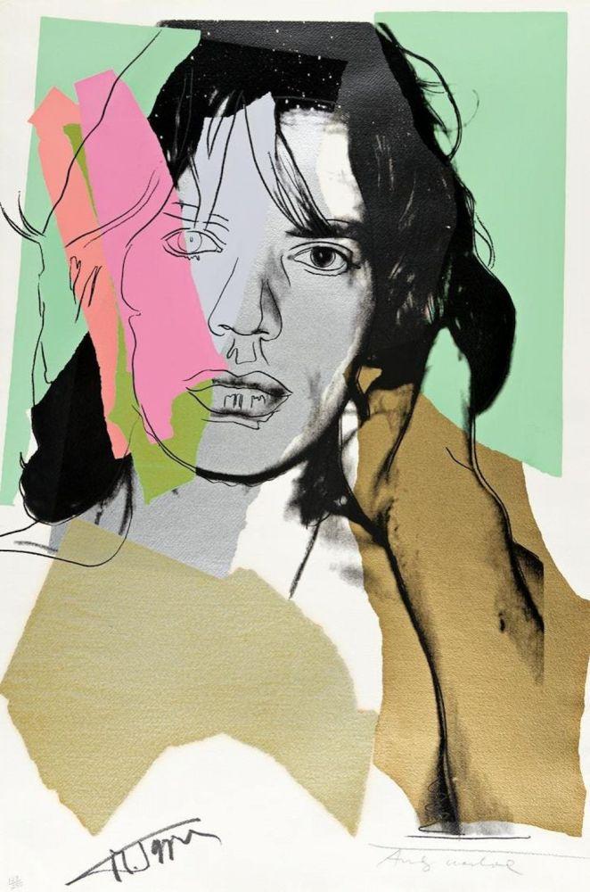 Screenprint Warhol - Mick Jagger FS 11.140