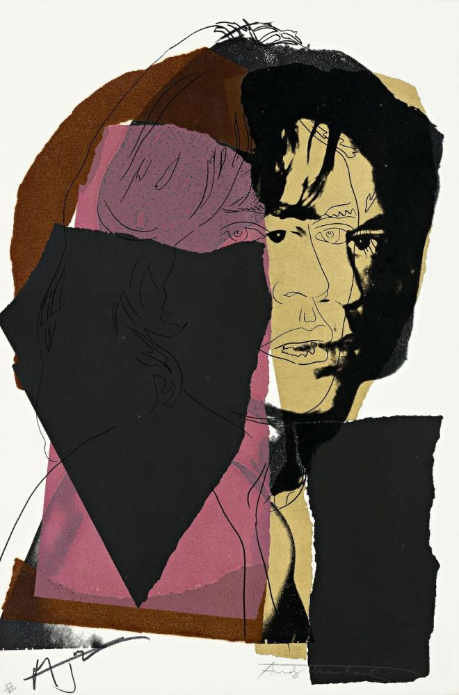 Screenprint Warhol - Mick Jagger (FS II.139)