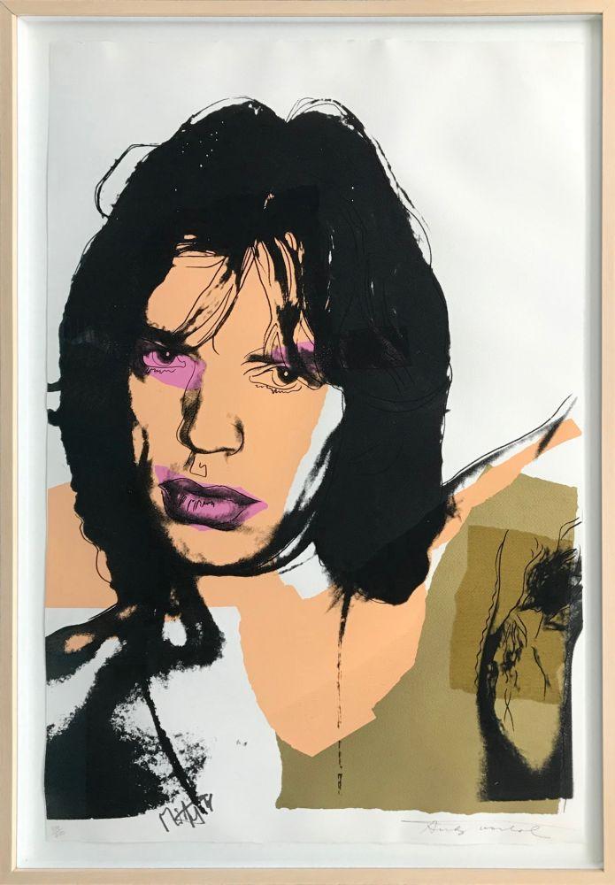 Screenprint Warhol - MICK JAGGER FS II.141