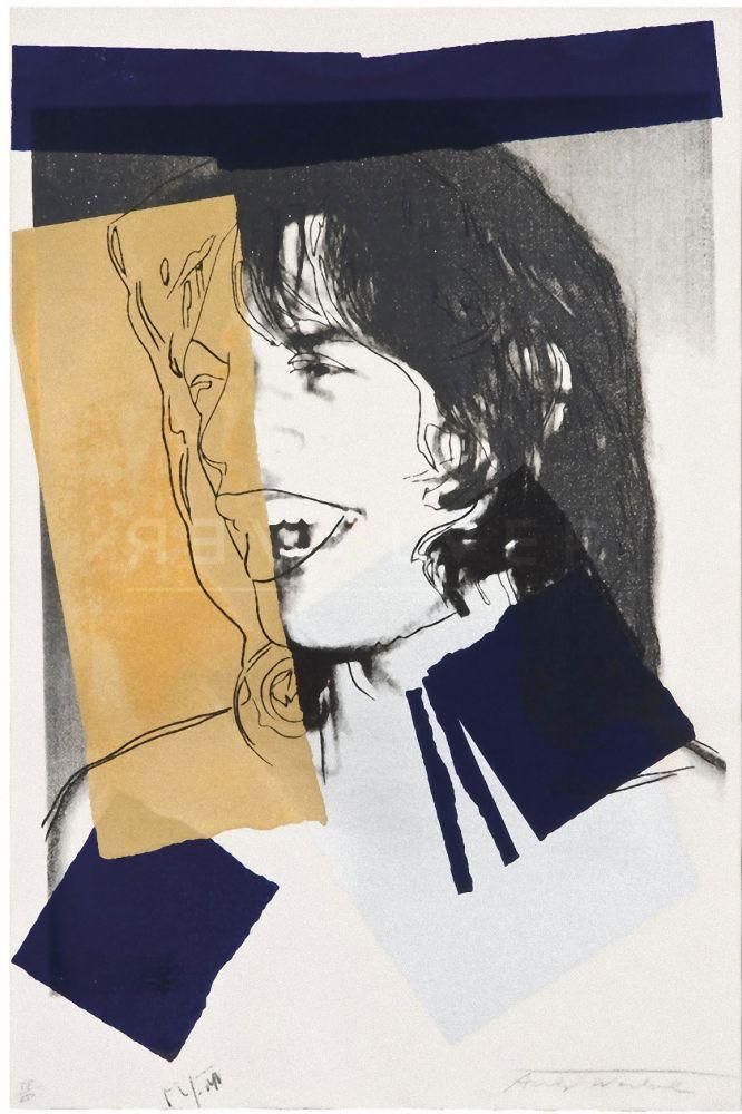 Screenprint Warhol - Mick Jagger (FS II.142)