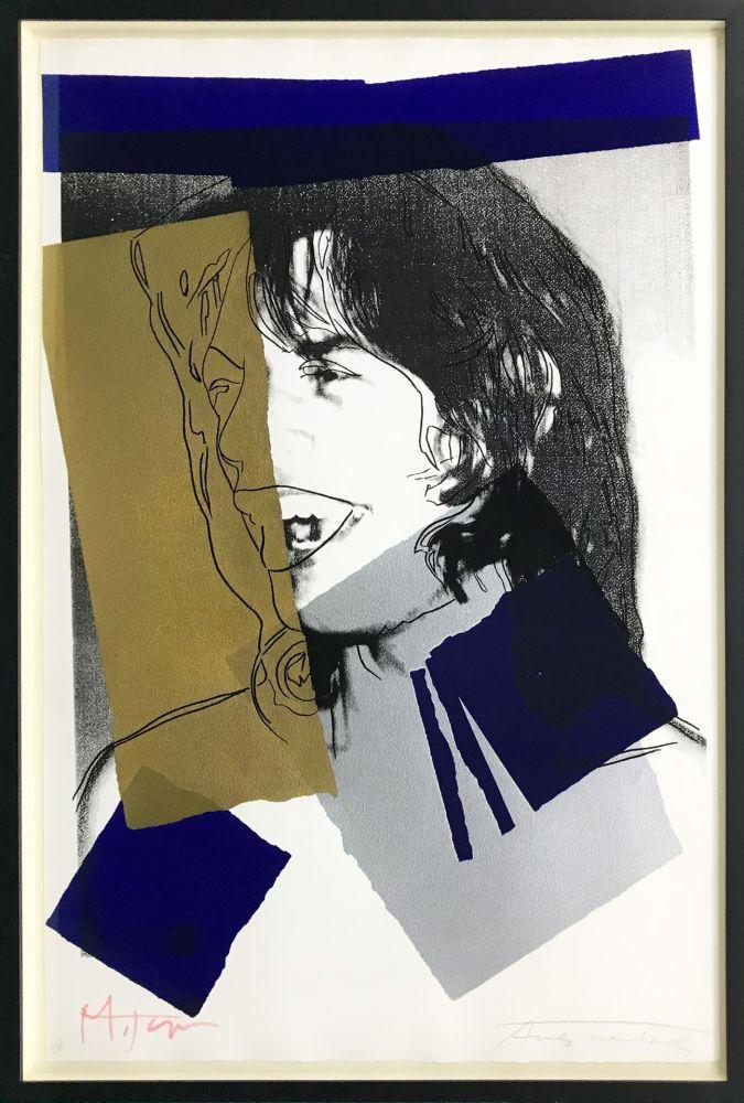 Screenprint Warhol - MICK JAGGER FS II.142