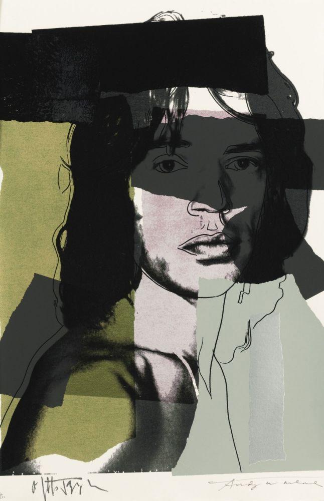 Screenprint Warhol - Mick Jagger, Green (FS II.145)