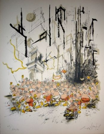 Lithograph Searle - Mickey Day