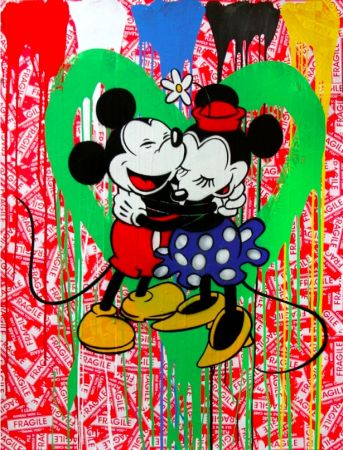 Multiple Mr. Brainwash - Mickey & Minnie