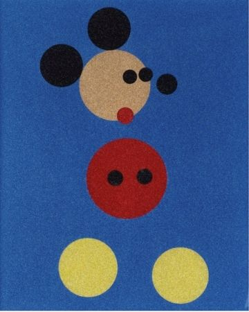 Screenprint Hirst - Mickey Mouse Glitter Print by Damien Hirst