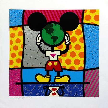 Screenprint Britto - MICKEY'S WORLD