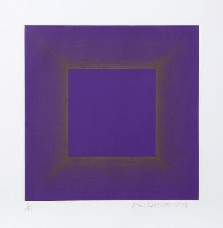 Aquatint Anuszkiewicz - Midnight Suite (Purple with Silver)