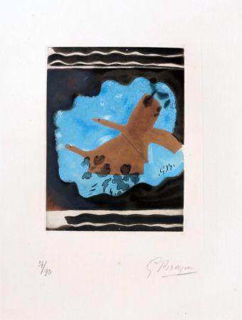 Engraving Braque - Migration