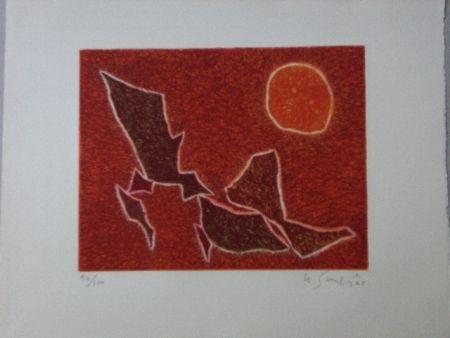 Aquatint Singier - Migration solaire