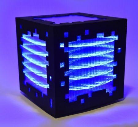 Woodcut Chevalier - Mini voxels light blue