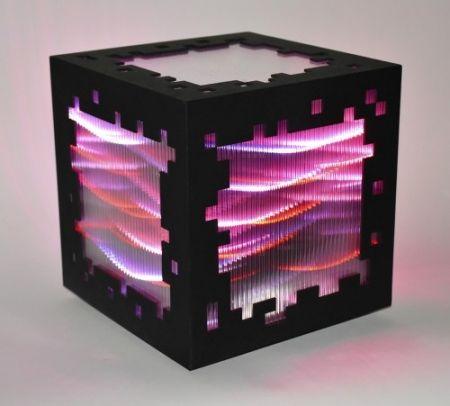 Woodcut Chevalier - Mini voxels light red