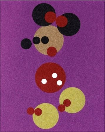 Screenprint Hirst - Minnie Mouse Glitter Print by Damien Hirst