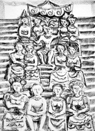 Lithograph Campigli - Minosse