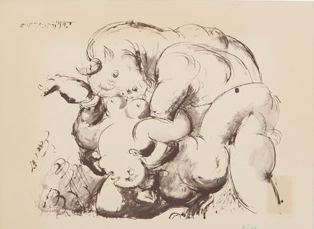 Lithograph Picasso (After) - Minotaur