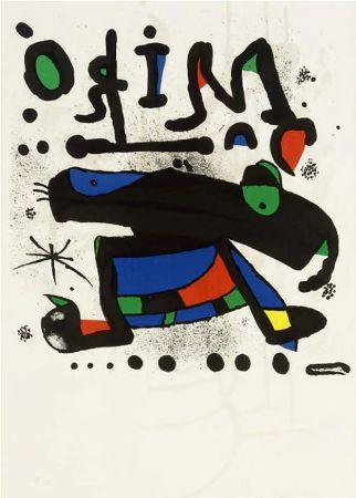 Poster Miró - MIRÓ. Exhibition poster at Seibu Museum of Art,Tokyo 1978. Affiche originale.