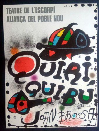 Poster Miró - Miró - Teatre de l'escorpi Quiri Quibu Joan Brossa 1976