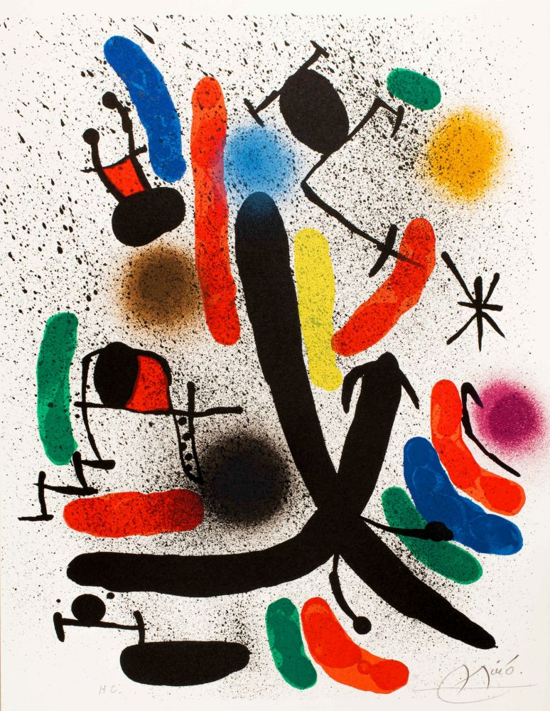 Lithograph Miró -  Miró lithographe I (Maeght 855)