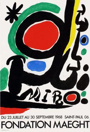 Poster Miró - MIRO À LA FONDATION MAEGHT. Exposition de l'été 1968.