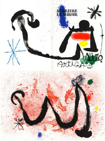 Lithograph Miró - MIRO - ARTIGAS, Terres de grand feu. Derrière le Miroir n° 139-140. Juin-Juillet 1963.