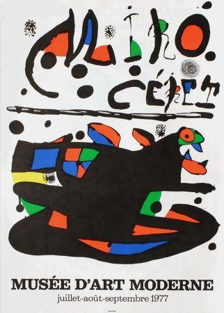 Poster Miró - MIRO - CÉRET. Musée d'Art Moderne 1977. Affiche originale.
