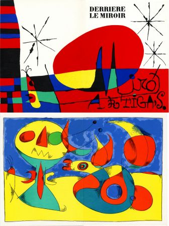 Lithograph Miró - MIRO ARTIGAS: Terres de grand feu. DERRIÈRE LE MIROIR N°87-88-89. 1956.