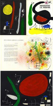 Lithograph Miró - MIRO. L'OISEAU SOLAIRE, L'OISEAU LUNAIRE, ÉTINCELLES. Derrière Le Miroir n° 164-165. Avril-Mai 1967