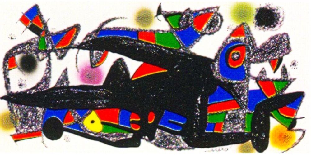Lithograph Miró -  Miro Sculptor -Denmark