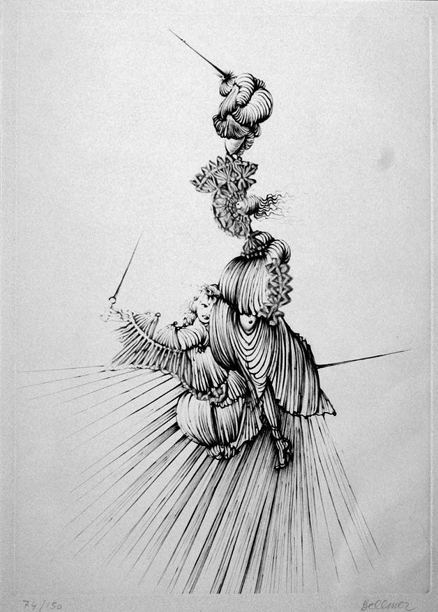 Engraving Bellmer - Miroir de Songes