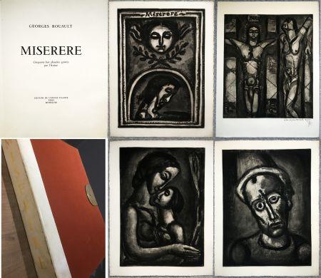 Illustrated Book Rouault - MISERERE. 58 gravures. La suite complète des 58 gravures. Éditions de l'étoile filante, 1948