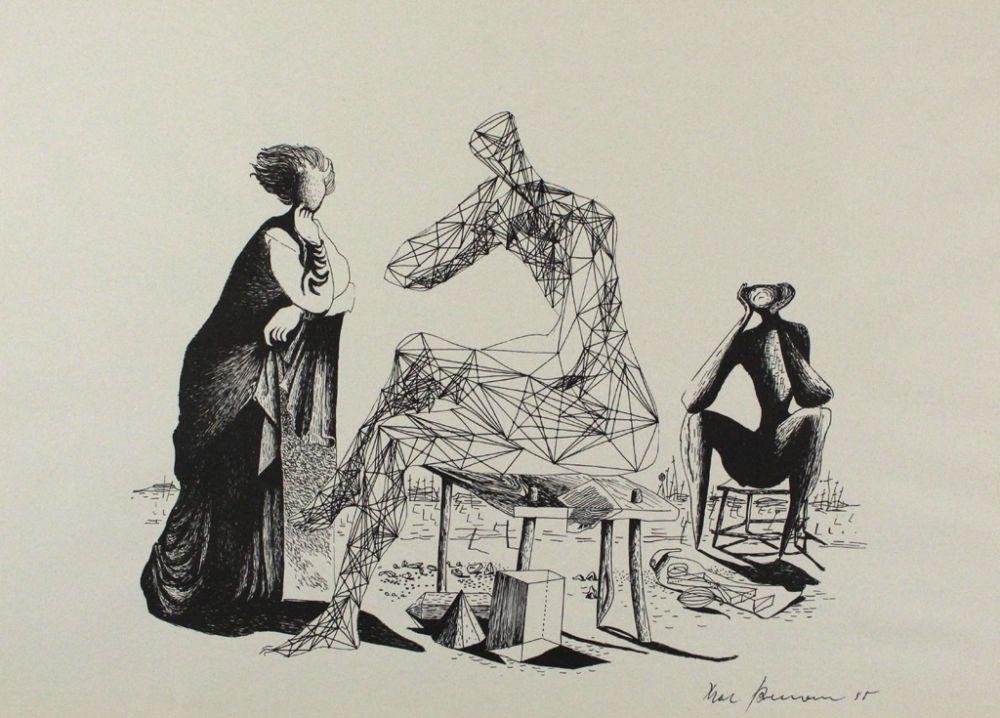 Lithograph Zimmermann - Mittag