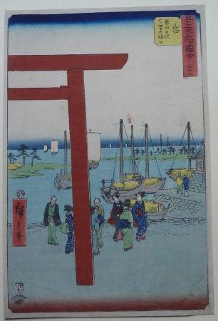 Woodcut Hiroshige - Miya