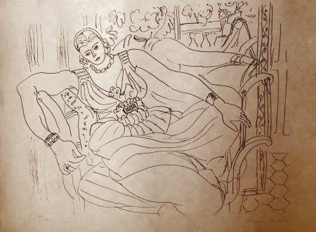 Lithograph Matisse - Modèle Couché au miroir avec Matisse 60x45 CAHIERS D'ART