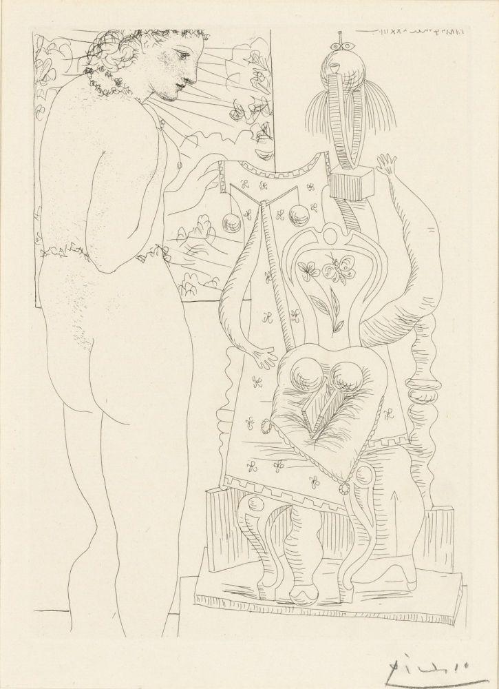 Engraving Picasso - Modele et sculpture surrealiste