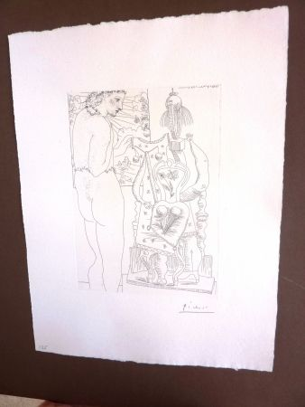 Etching Picasso - Modele Et Sculpture Surrealiste'