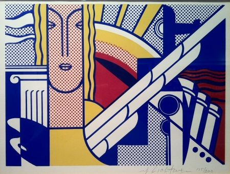 Screenprint Lichtenstein - Modern Art Poster