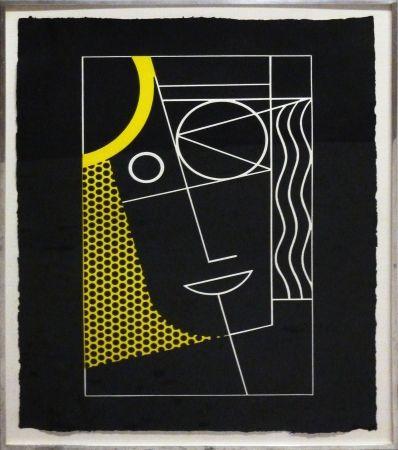 Etching Lichtenstein - Modern Head #2