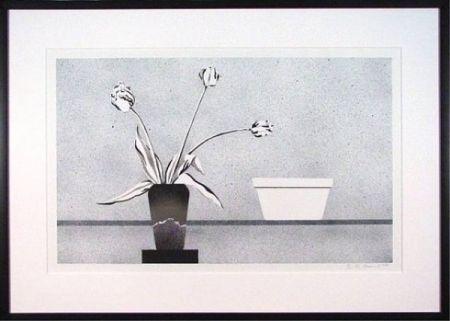 Lithograph Baynard - Modern Still Life